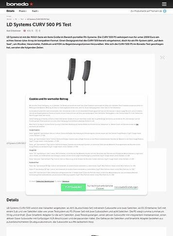 Bonedo.de LD Systems CURV 500 PS