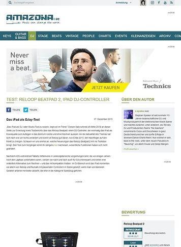 Amazona.de Test: Reloop Beatpad 2, iPad DJ-Controller