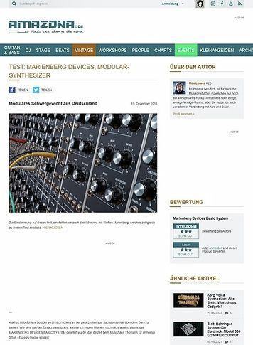 Amazona.de Test: Marienberg Devices, Modular-Synthesizer