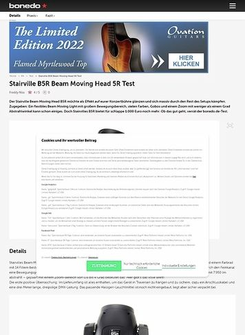 Bonedo.de Stairville B5R Beam Moving Head