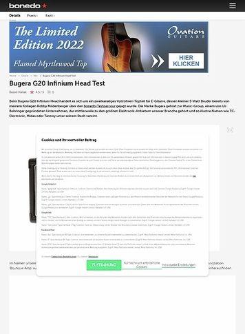 Bonedo.de Bugera G20 Infinium Head