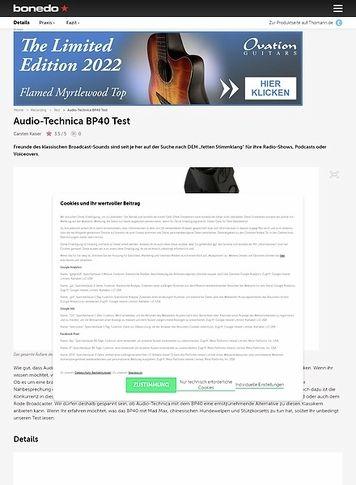 Bonedo.de Audio-Technica BP40