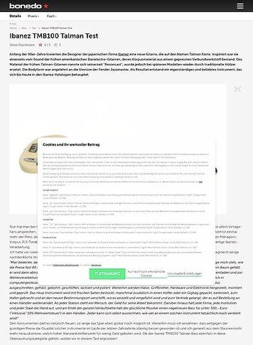 Bonedo.de Ibanez TMB100 Talman