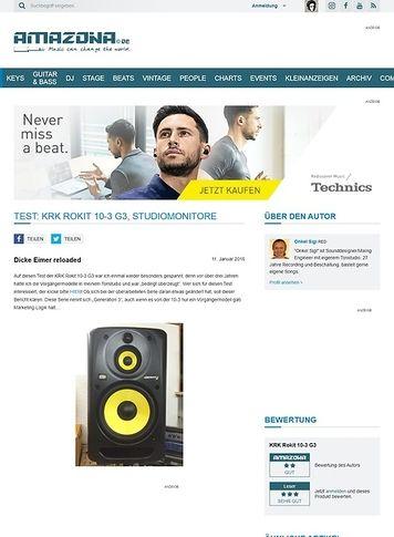 Amazona.de Test: KRK Rokit 10-3 G3, Studiomonitore