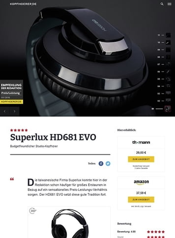 Kopfhoerer.de Superlux HD-681 Evo