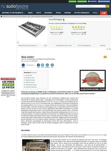 Audiofanzine.com Korg Minilogue