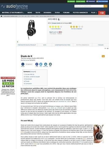 Audiofanzine.com AKG K812