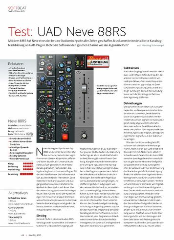 Beat UAD Neve 88RS