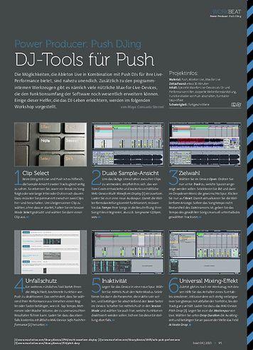 Beat Push DJing - DJ-Tools für Push