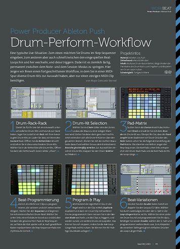 Beat Ableton Push - Drum-Perform-Workflow