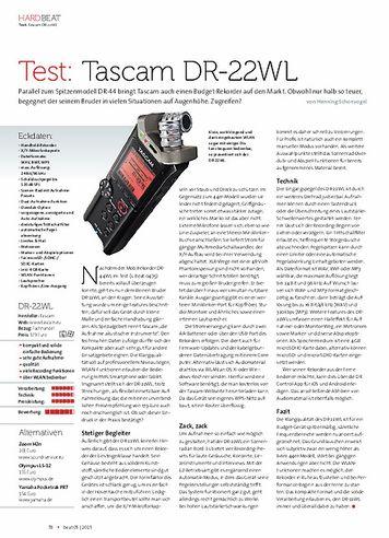 Beat Tascam DR-22WL