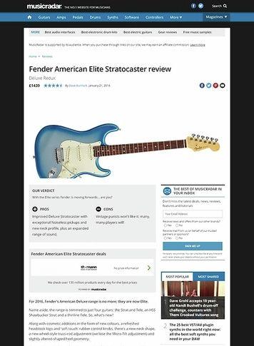 MusicRadar.com Fender American Elite Stratocaster