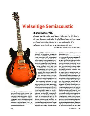 Gitarre & Bass Ibanez JSM10-VYS