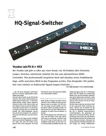 Gitarre & Bass Voodoo Lab Voodoo Lab PX-8 + HEX, Looper