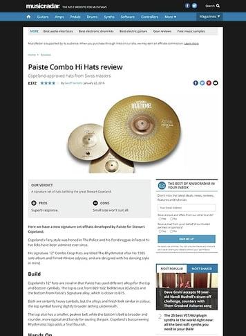 MusicRadar.com Paiste Combo Hi Hats