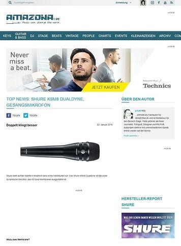 Amazona.de Top News: Shure KSM8 Dualdyne, Gesangsmikrofon