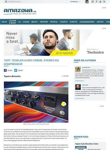 Amazona.de Test: Tegler Audio Manufaktur Crème, Stereo Equalizer und Kompressor