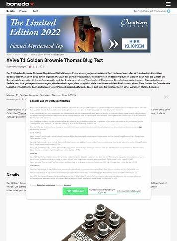 Bonedo.de XVive T1 Golden Brownie Thomas Blug
