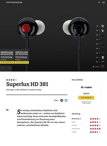 Kopfhoerer.de Superlux HD 381