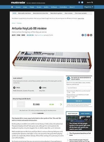 MusicRadar.com Arturia KeyLab 88