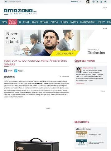 Amazona.de Test: VOX AC10C1 Custom, Verstärker für E-Gitarre