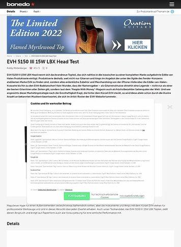 Bonedo.de EVH 5150 III 15W LBX Head