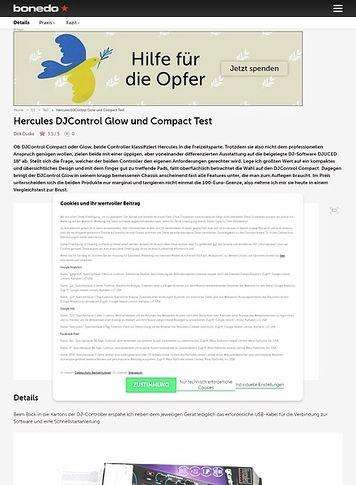 Bonedo.de Hercules DJControl Glow und Compact
