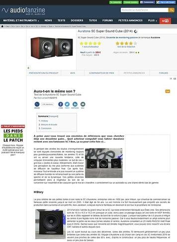 Audiofanzine.com Auratone 5C Super Sound Cube
