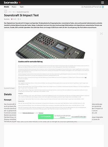 Bonedo.de Soundcraft Si Impact