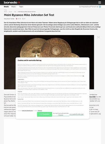 Bonedo.de Meinl Byzance Mike Johnston Set