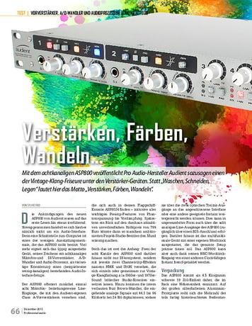 Professional Audio Audient ASP800
