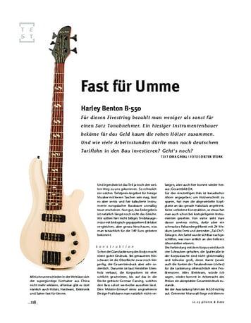 Gitarre & Bass Harley Benton B-550, E-Bass