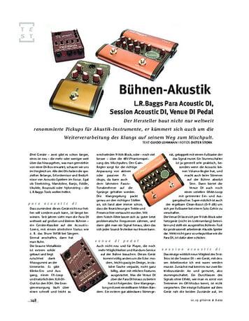 Gitarre & Bass L.R.Baggs Para Acoustic DI, Session Acoustic DI, Venue DI Pedal