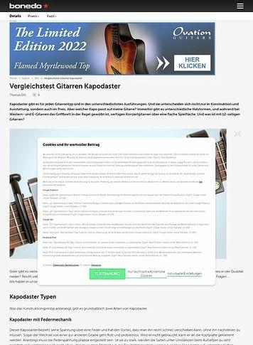 Bonedo.de Gitarren Kapodaster im Vergleich