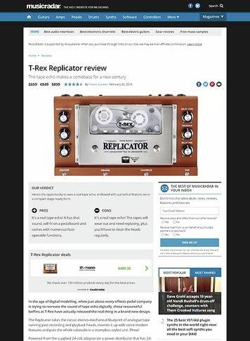 MusicRadar.com T-Rex Replicator