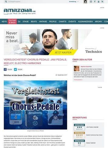 Amazona.de Vergleichstest Chorus-Pedale: Jam Pedals, Keeley, Electro Harmonix