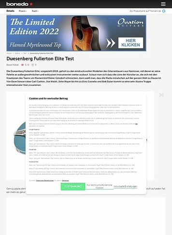 Bonedo.de Duesenberg Fullerton Elite