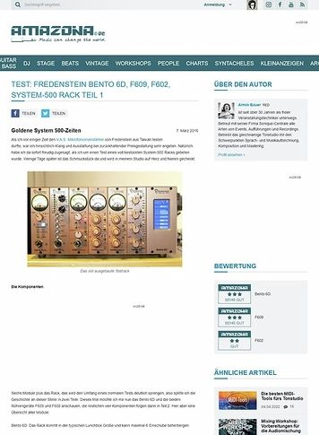 Amazona.de Test: Fredenstein Bento 6D, F609, F602, System-500 Rack Teil 1