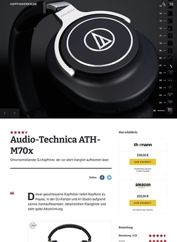 Kopfhoerer.de Audio-Technica ATH-M70 X