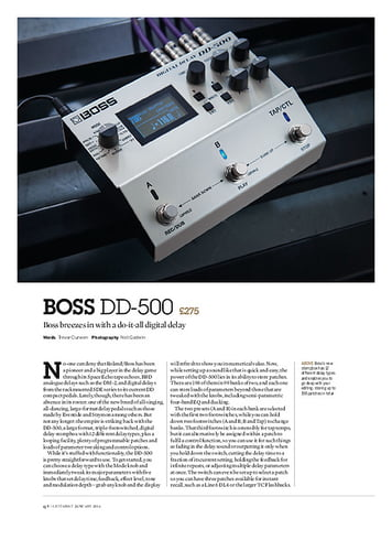 Guitarist Boss DD-500