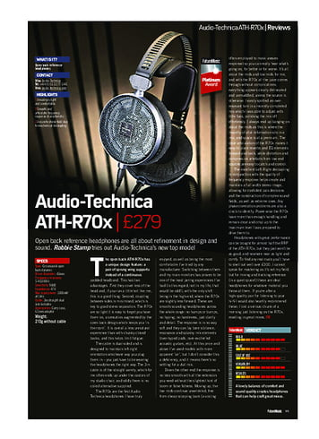 Future Music Audio-Technica ATH-R70x
