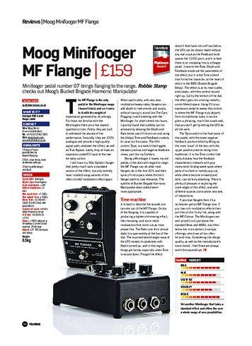 Future Music Moog Minifooger MF Flange