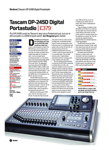 Future Music Tascam DP-24SD Digital Portastudio