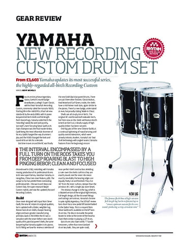 Rhythm Yamaha New Recording Custom Drum Set