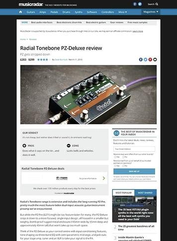 MusicRadar.com Radial Tonebone PZ-Deluxe