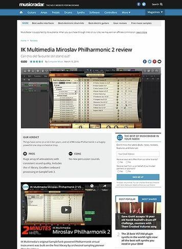 MusicRadar.com IK Multimedia Miroslav Philharmonic 2