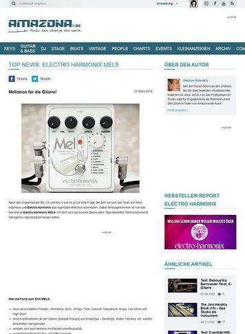 Amazona.de TOP NEWS: Electro Harmonix MEL9