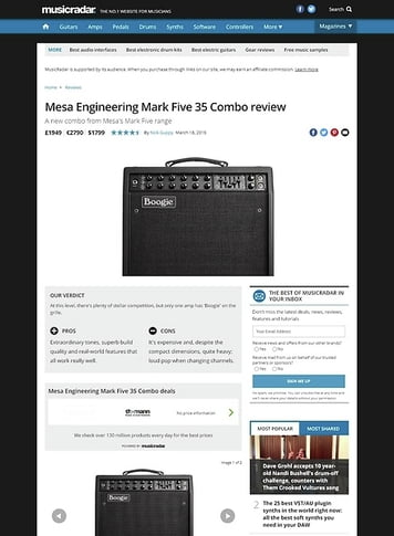 MusicRadar.com Mesa Engineering Mark Five 35 Combo