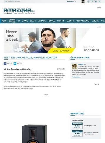 Amazona.de Test: ESI uniK 05 plus, Nahfeld Monitor