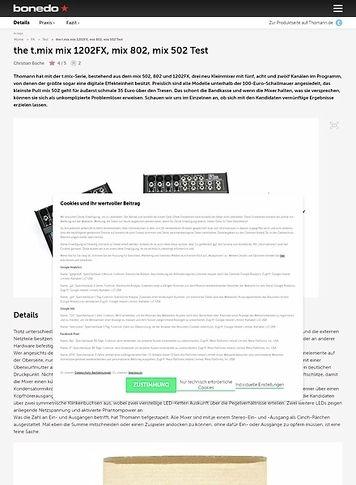 Bonedo.de the t.mix mix 1202FX, mix 802, mix 502